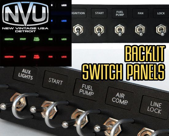 Nvu Custom Backlit Toggle Switch Panels Rockers And Switches