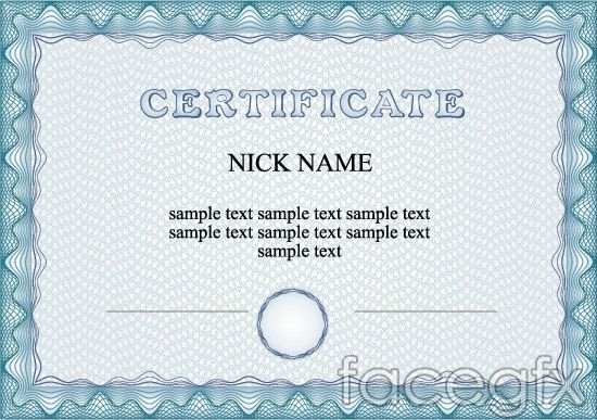 Wave line border certificate vector Free textures, fonts, images - new certificate vector free
