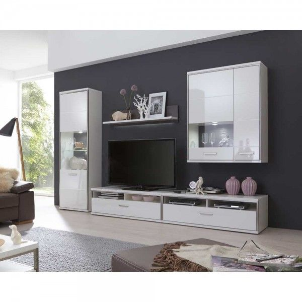 Moderne Wohnwand Lefaria Living Room Grey White Rooms Furniture Design