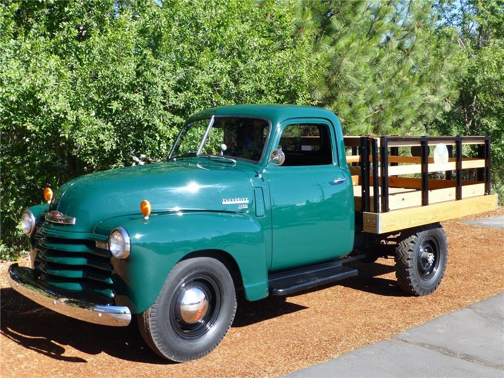 1949 Chevrolet 3600 Flatbed Truc Barrett Jackson Auction Company Trucks Chevy Trucks Accessories Chevy Trucks