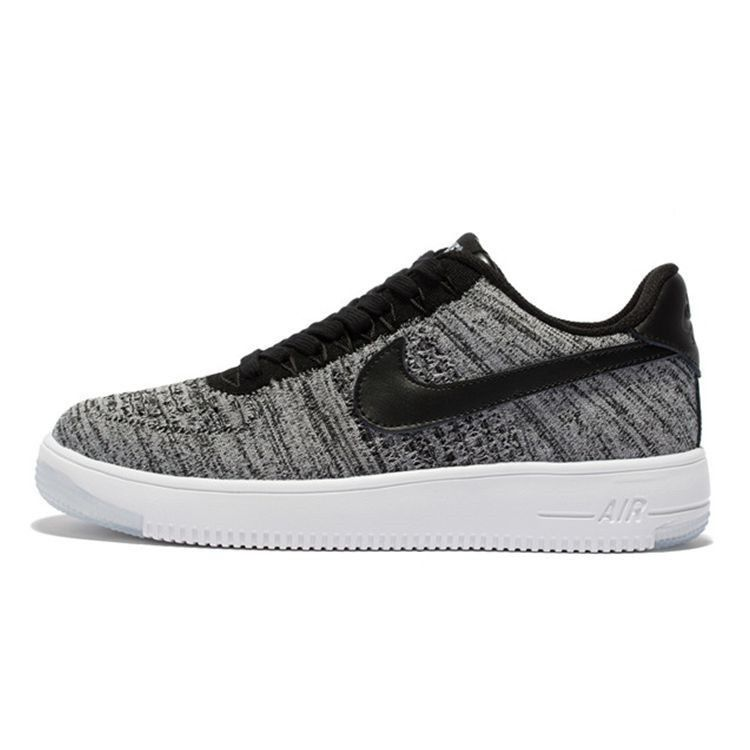 huge discount 5ca0c ae70f Nike Air 817420-005 Force 1 ComfortableUltra Flyknit Low Unisex Trainers  BlackGreyWhite