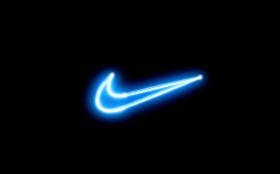 nike logo neon