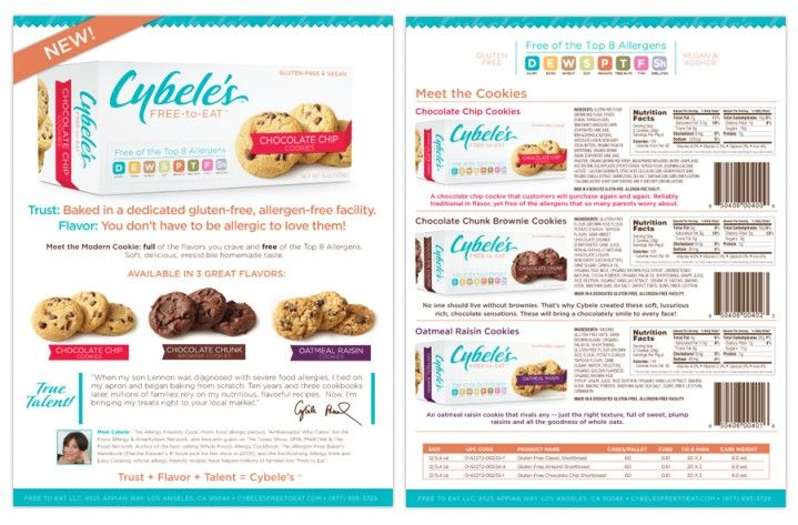 Sales Sheet for Cybele's new Cookies Line. | Packaging | Pinterest ...