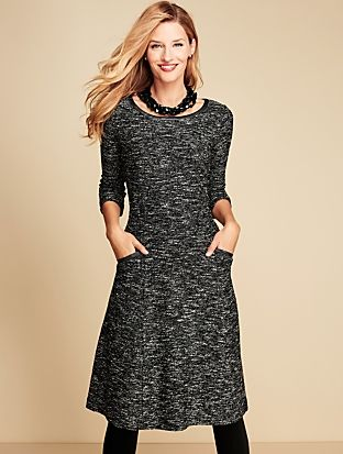 e86802e54bc Talbots - Fancy Tweed Dress     Misses Discover your new look at Talbots.  Shop our Fancy Tweed Dress for stylish clothing and accessories with a  modern ...