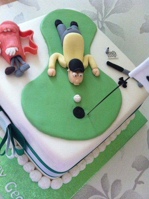 Golfer Cake 50th Birthday Cakes Golf Birthday Cakes
