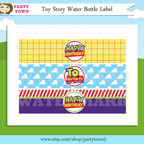 Toy Story Water Bottle Labels By ThePartyTown 499