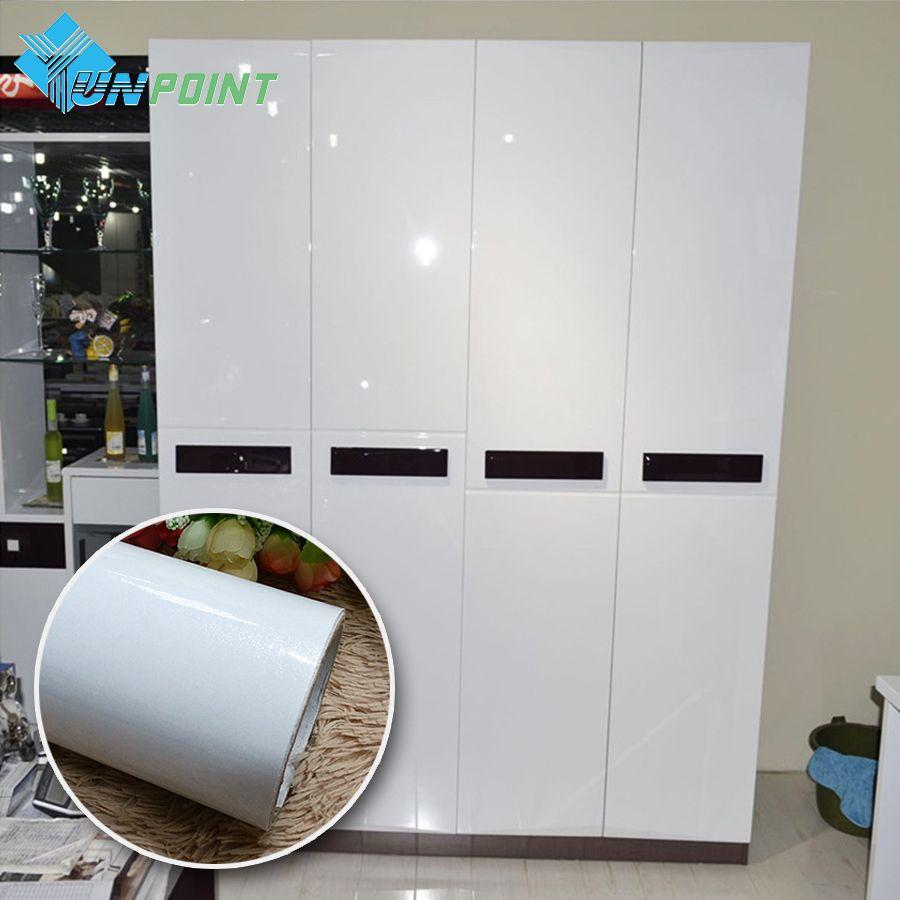 Blanco perla DIY Película Decorativa de PVC autoadhesivo papel de ...
