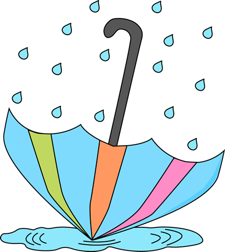 umbrella and rain clip art umbrella in a rain puddle clip art rh pinterest co uk clip art rain showers clipart rainbow black and white