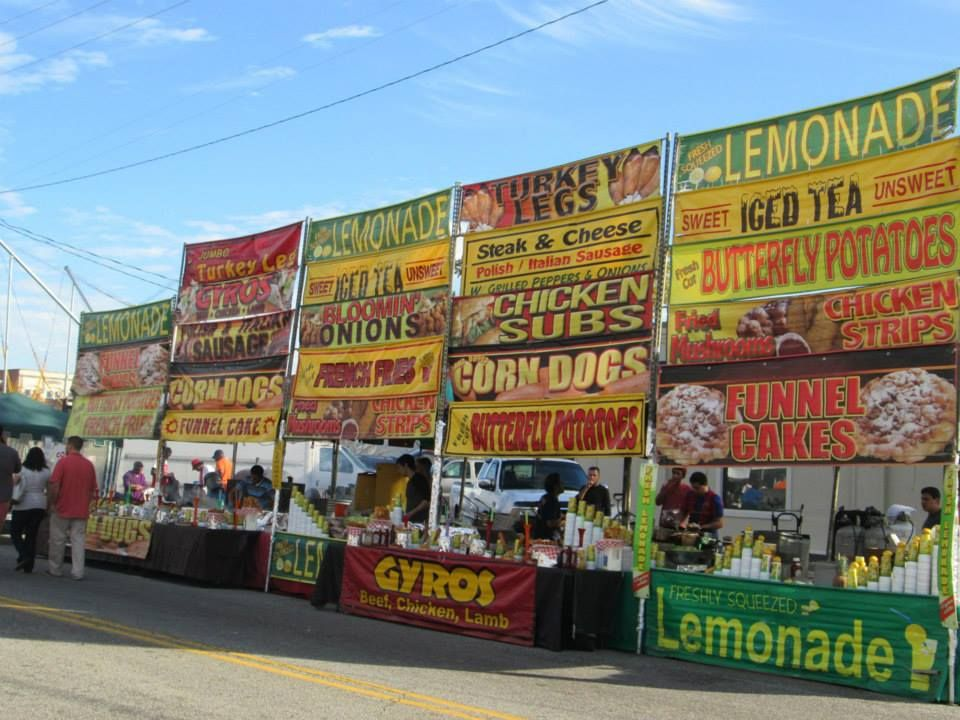 The many food booths at the 2013 Pecan Festival #florenceunlocked