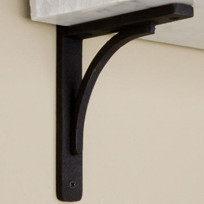 rustic cast iron shelf bracket