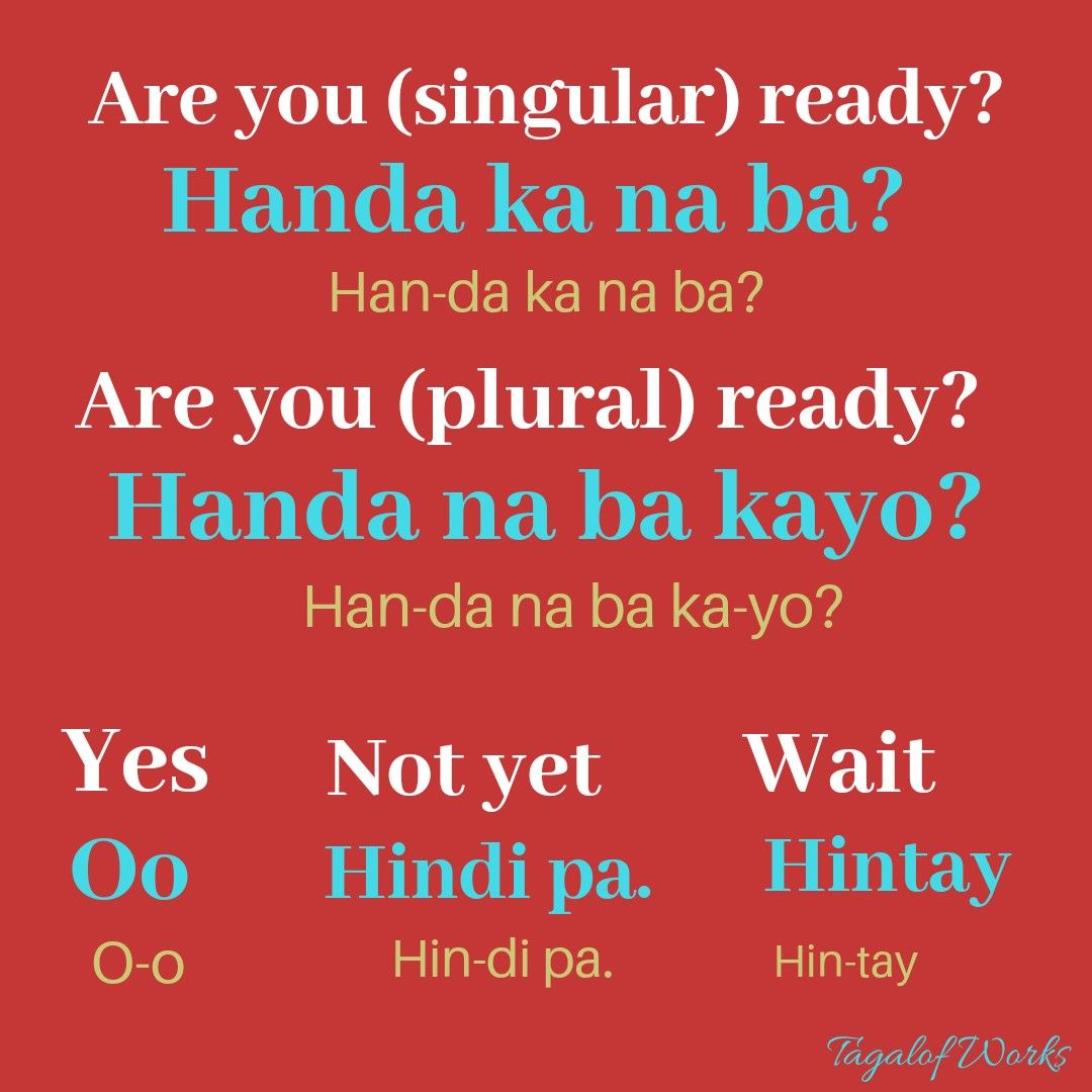Conversations In Tagalog In