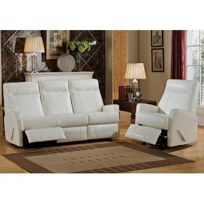 Amax Toledo 2 Piece Leather Living Room Set Products Pinterest