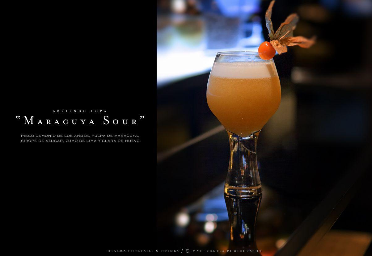 Maracuya Sour Cocktail Photo Maxi Conesa Photography