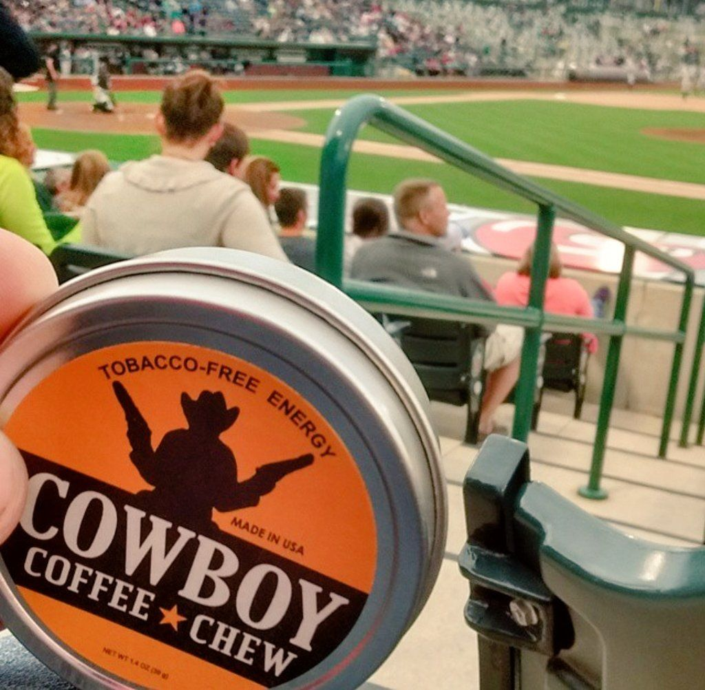 Let S Play Ball We Are Dugout Safe What To Chew When Playing Baseball Try Major League Energy Dip Caffeine Fo Tobacco Free Cowboy Coffee Chew Cowboy Coffee
