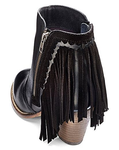 029d0b70c99 Sole Diva Fringed Ankle Boot Extra Wide -  plussize  footwear ...
