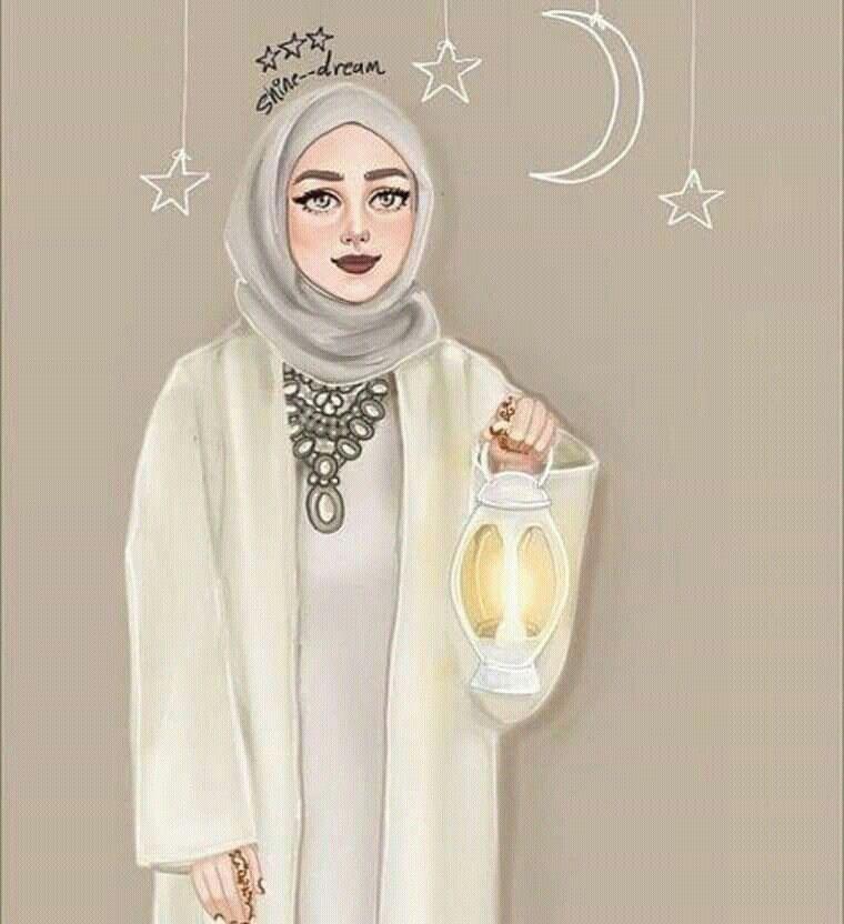 Hijabi Ramadan Dpzz Girly M Fashion Illustration Islamic Girl