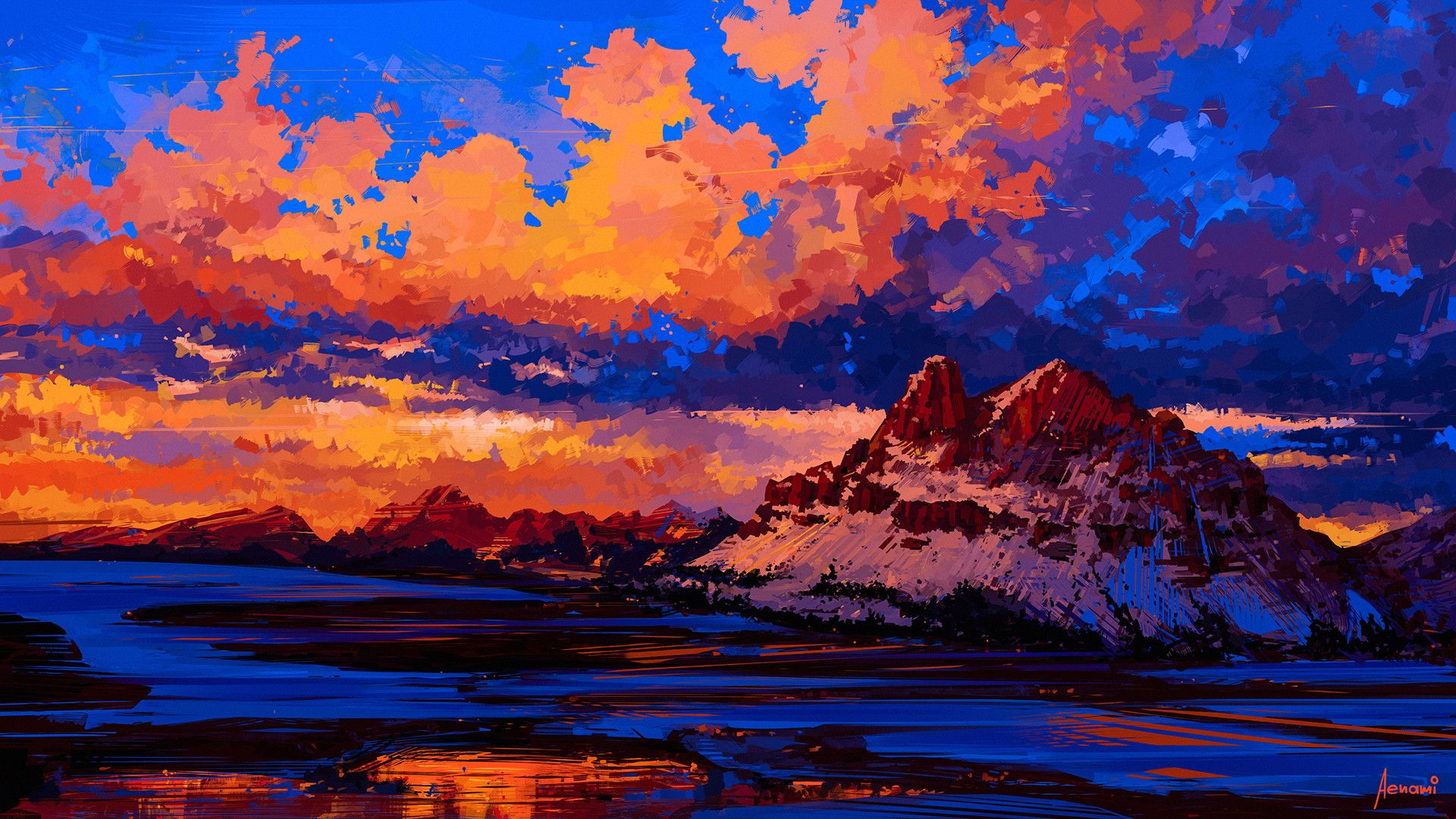 Mountain Sound (Alena Aenami) [1920 x 1080] Искусство