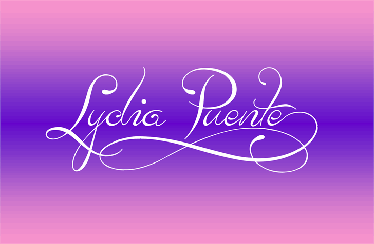 Lydia Puente) Font | Fabulous Fonts! | Calligraphy fonts