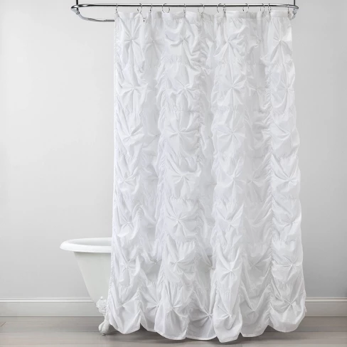 Knotted Squares Shower Curtain White Opalhouse™ (With