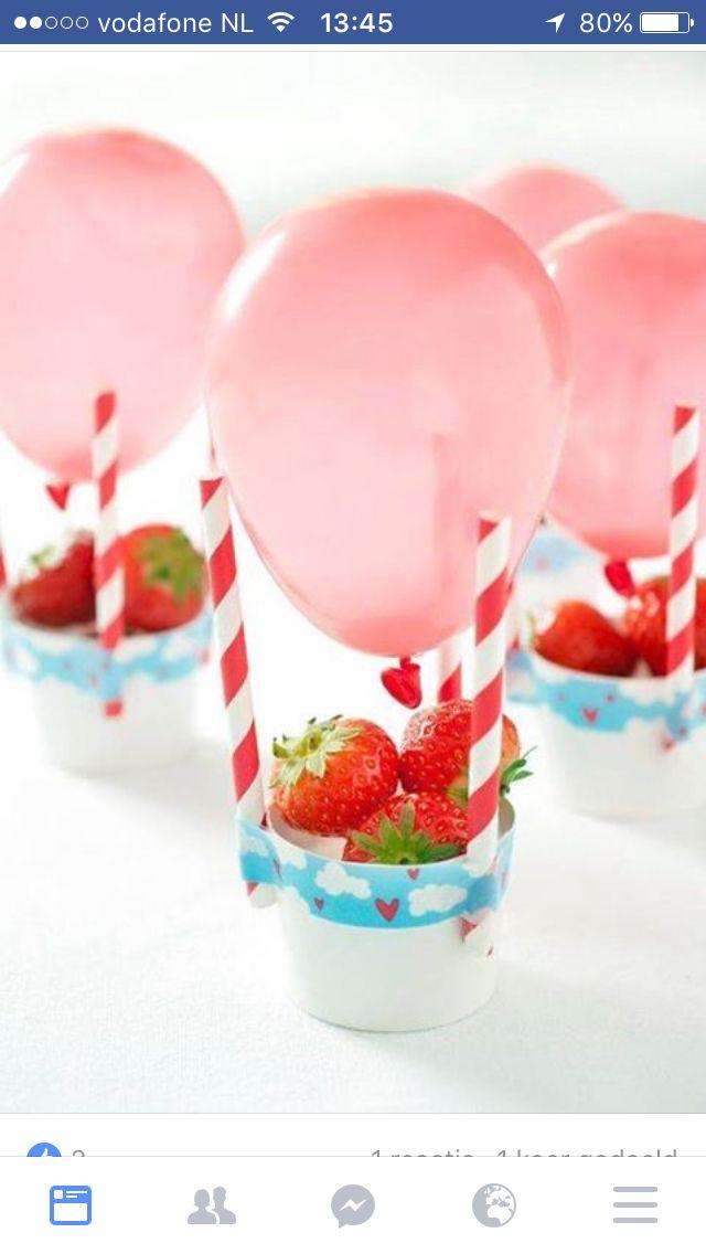 Strawberry balloon gift idea