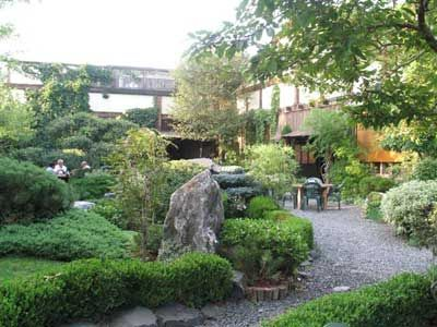 Domo is a japanese restaurant garden and museum take