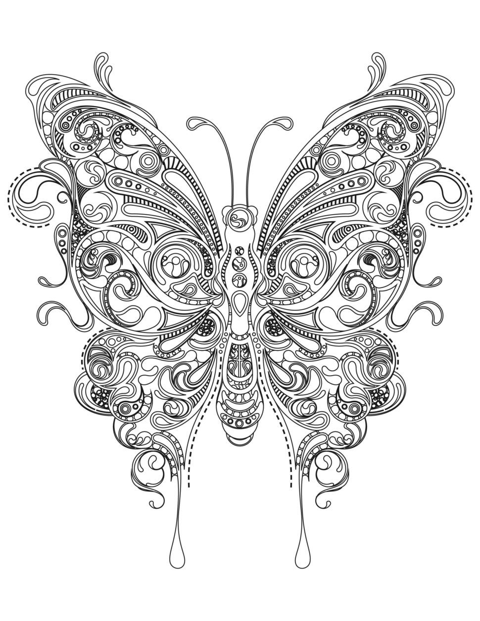 Pin By T Stevens On Color Butterfly Coloring Page Coloring Pages Inspirational Heart Coloring Pages [ 1255 x 970 Pixel ]
