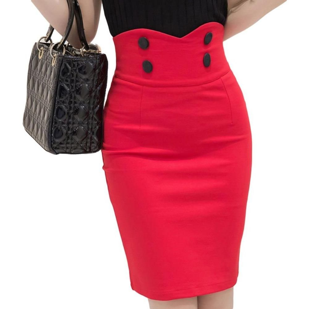 09dd35d70570c An office-ready pencil skirt with a high waist