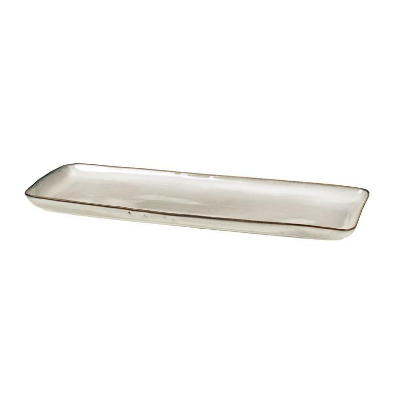 Broste Copenhagen Nordic Sand Teller 35 x 12,5 cm Jetzt bestellen - edles geschirr besteck porzellan silber