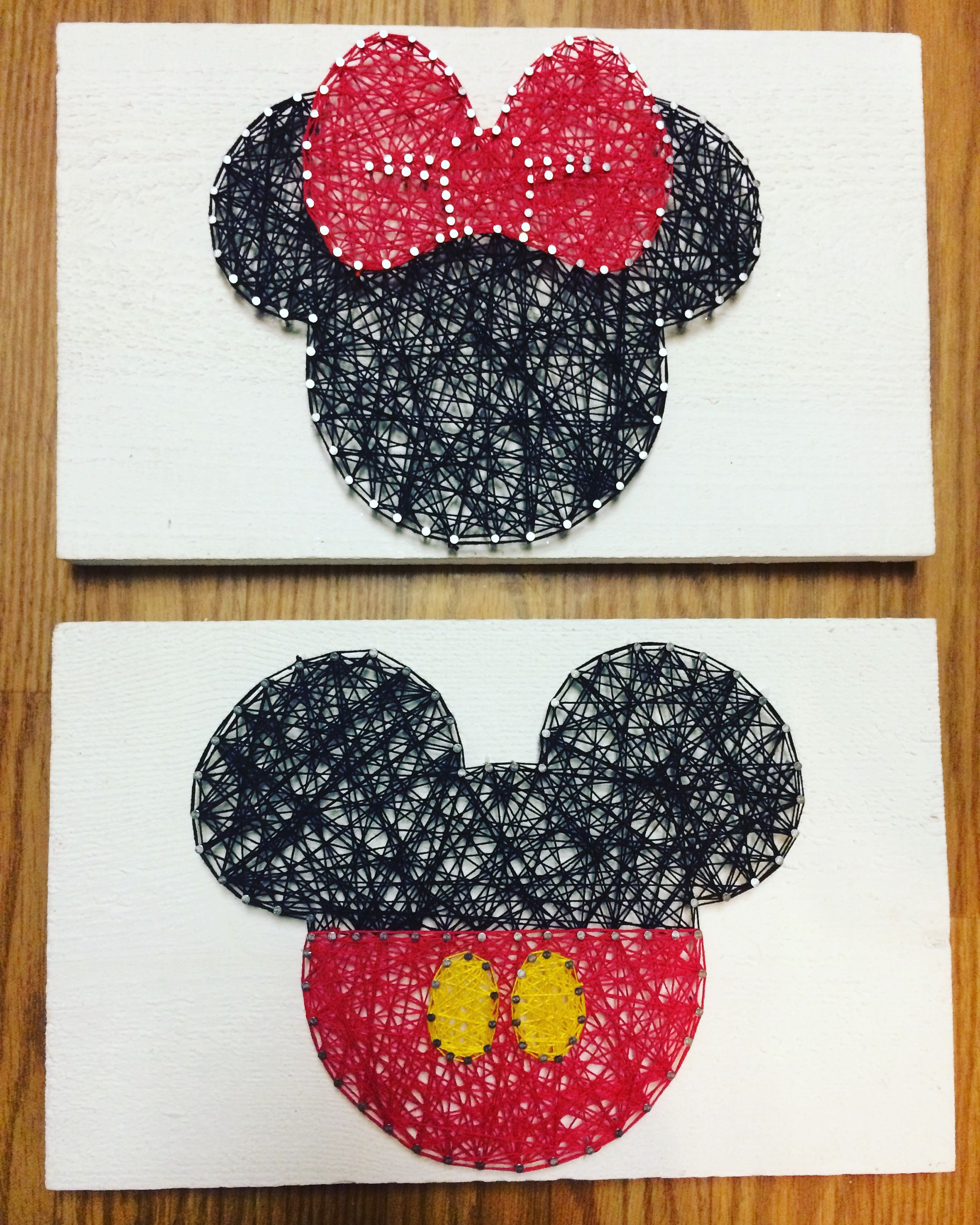 Minnie and Mickey Mouse string art - string art | Pinterest - Disney ...