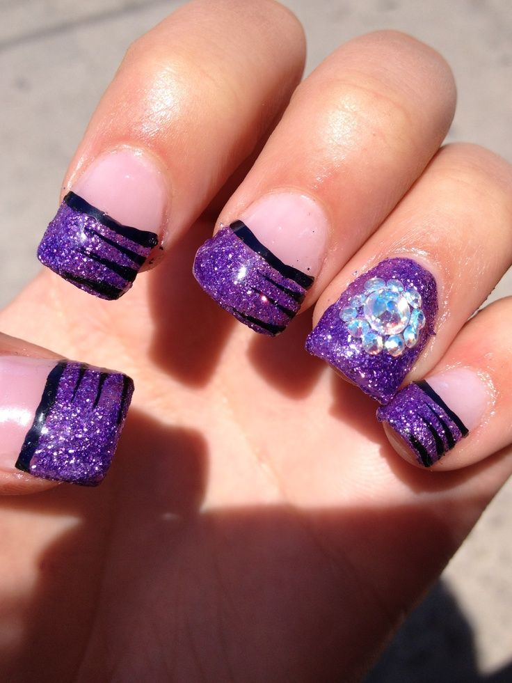 Top 10 Nail Design Ideas - Top 10 Nail Design Ideas Purple Nail, Nail Nail And Makeup