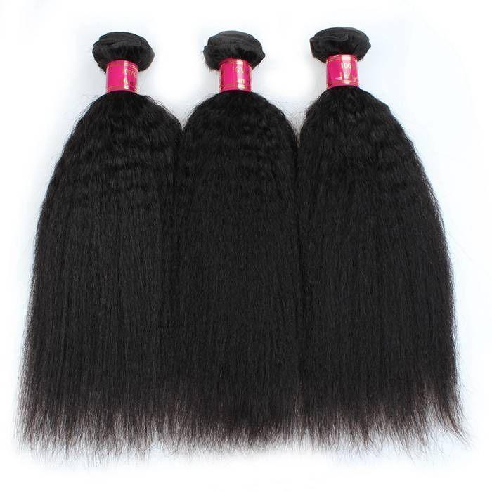 Kinky Straight Brazilian Kinky Straight Human Hair Weave