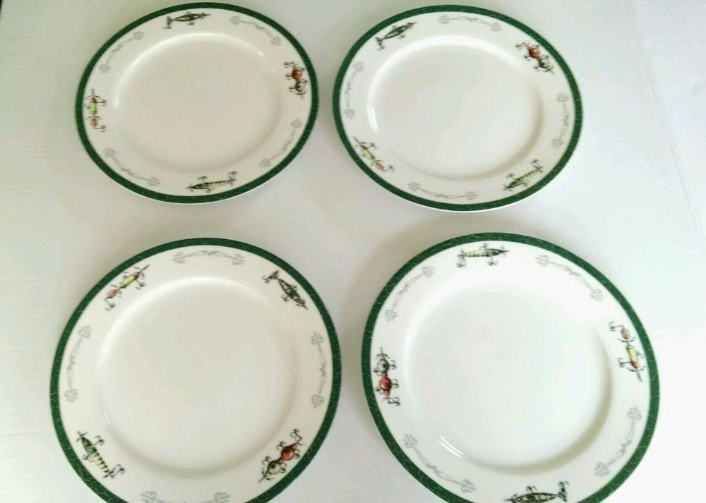 big sky Carvers lures fish dinner plates rustic lodge 4 & big sky Carvers lures fish dinner plates rustic lodge 4 | Fish ...