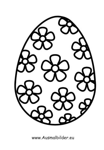 Ausmalbild Osterei Mit Blumen Zum Ausmalen Ausmalbilder Malvorlagen Ostern Osterhase Kindergart Ostereier Ausmalen Ostereier Malvorlagen Ostern