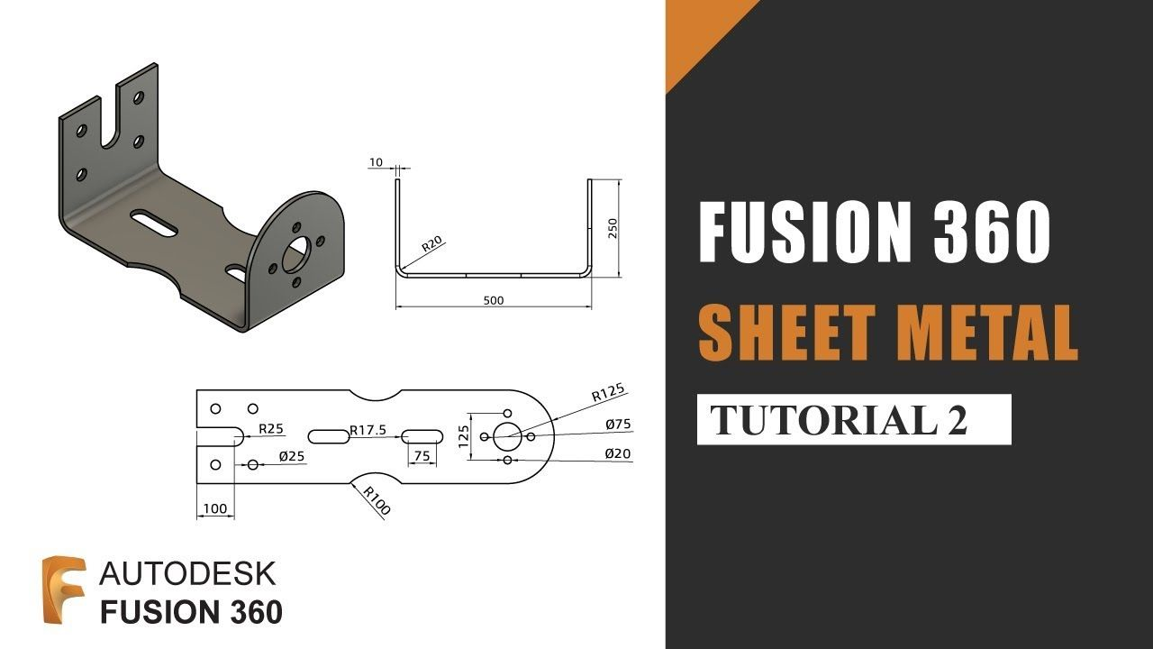 Sheet Metal Tutorial 2 How To Work With Sheet Metal In Autodesk Fusion 360 Sheet Metal Autodesk Tutorial