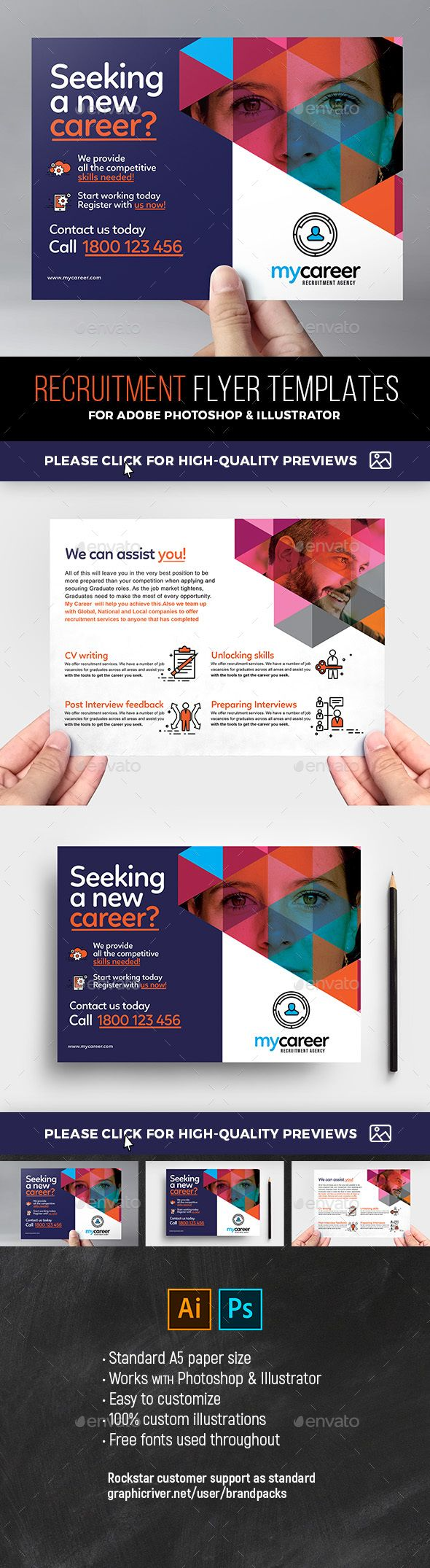 recruitment agency flyer templates. print-templates flyers corporate