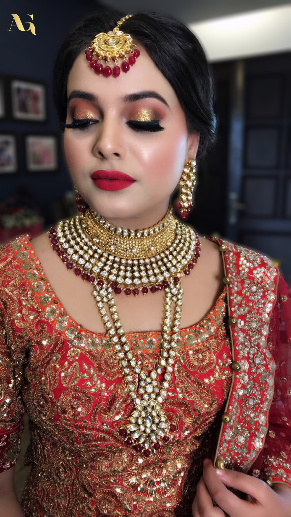 Traditional bridal makeup... Still so fresh and charming
