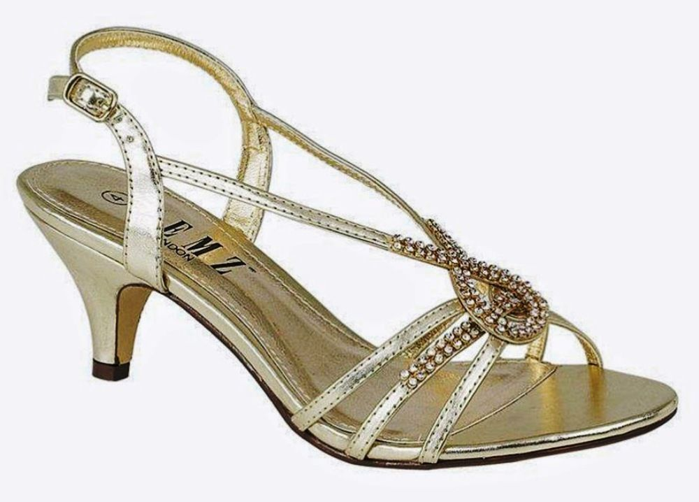 Ladies Sandals Strappy Low Medium Heel Diamante Evening Wedding Party Ankle Wedding Shoes Low Heel Womens Sandals Heels