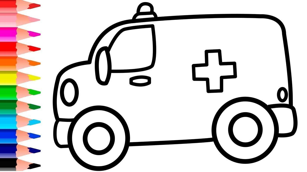 How To Draw Ambulance Coloring Book Learn Colors For Kids Ambulance Co Learning Colors Coloring For Kids Drawing For Kids