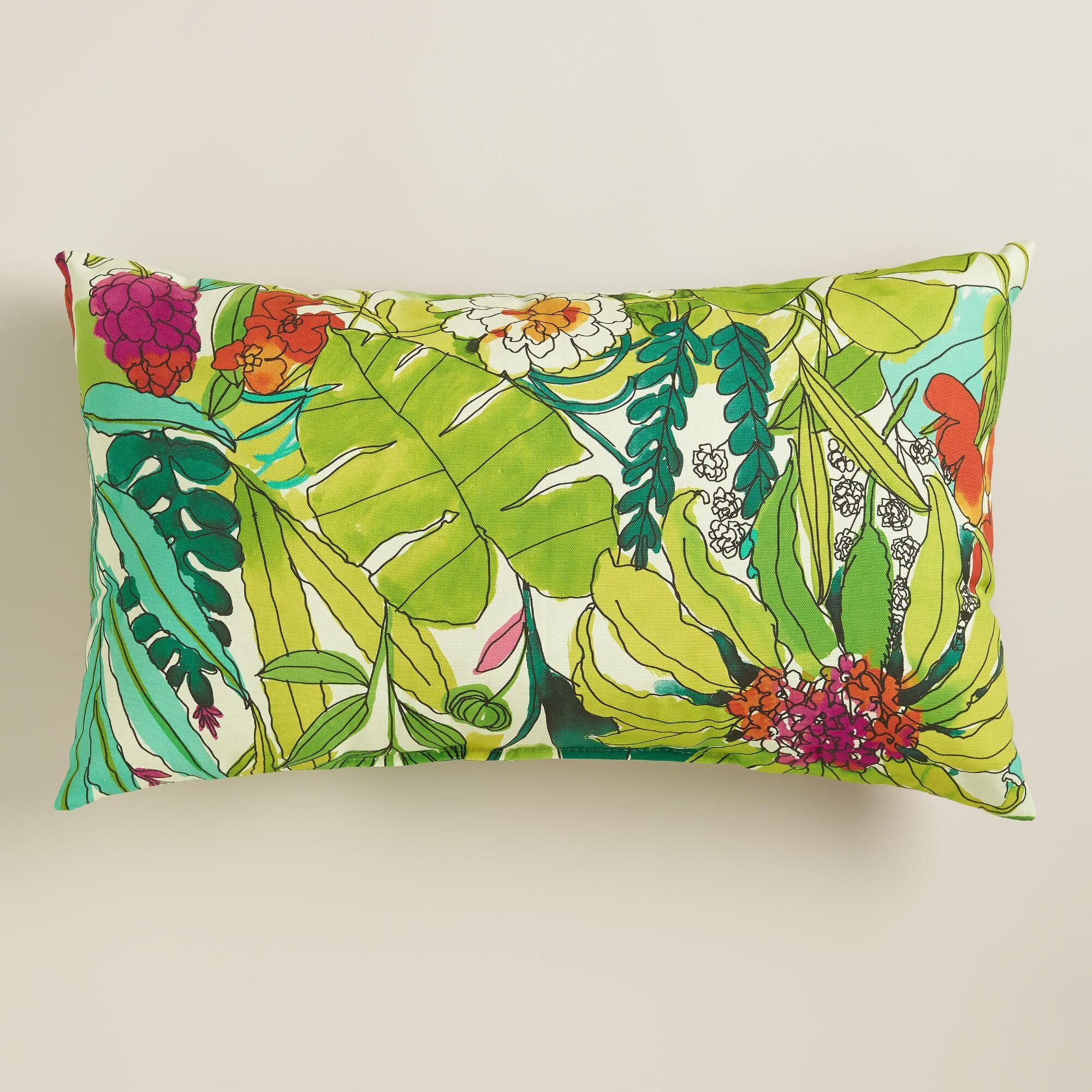 Fiji Foliage Outdoor Lumbar Pillow | Fiji, Pillows and Window