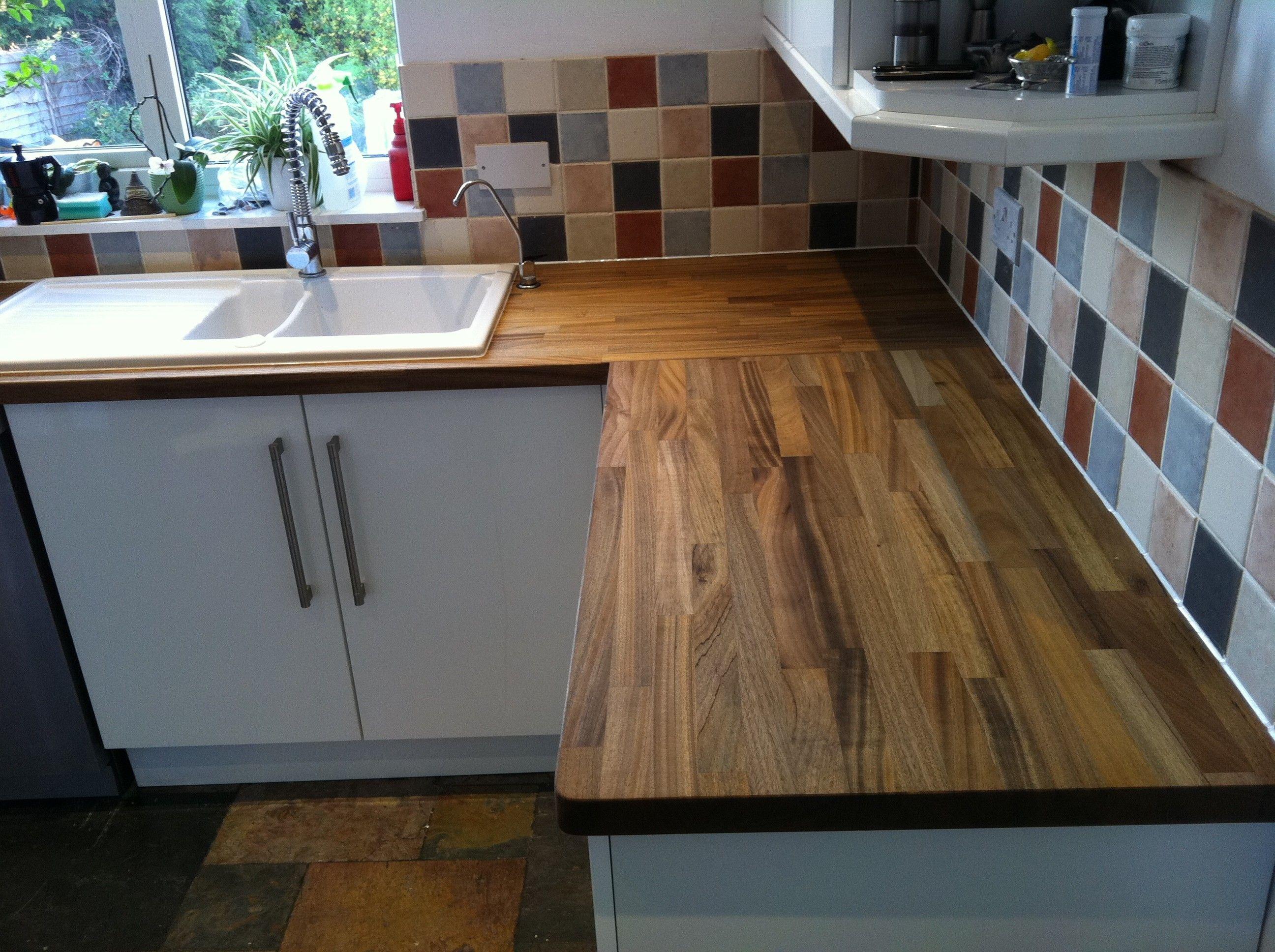 tiger walnut worktops l shape kitchen design kitchen pinterest
