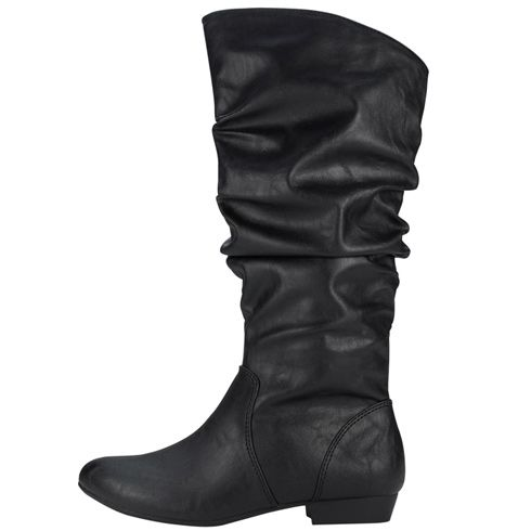 Lower East Side Women S Rory Slouch Boot In Both Black