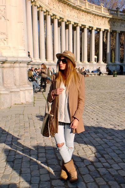 Camel,ugg,boots,camel,h,m,coat,camel,vintage,