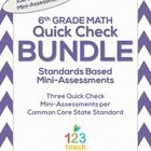 This file includes three quick checks for ALL of the 6th grade math Common Core Standards! I would like to figure out how to make this for 8th grade.  The fo...