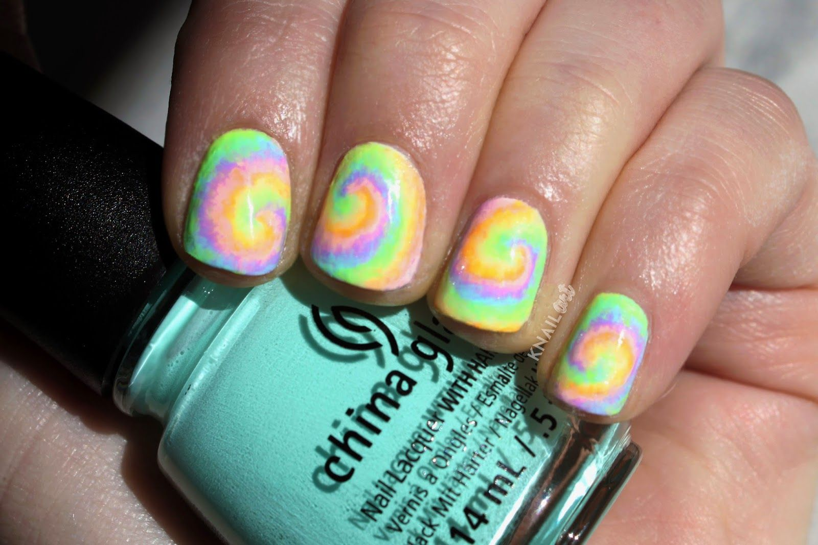 Knailart Pastel Rainbow Tie Dye Tutorial Httpknailart