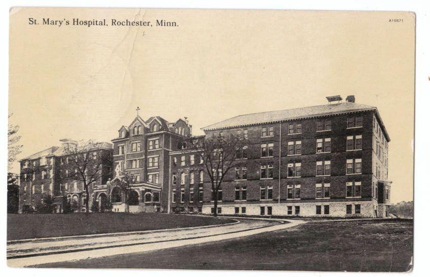 Vintage postcard st marys hospital rochester mn winona