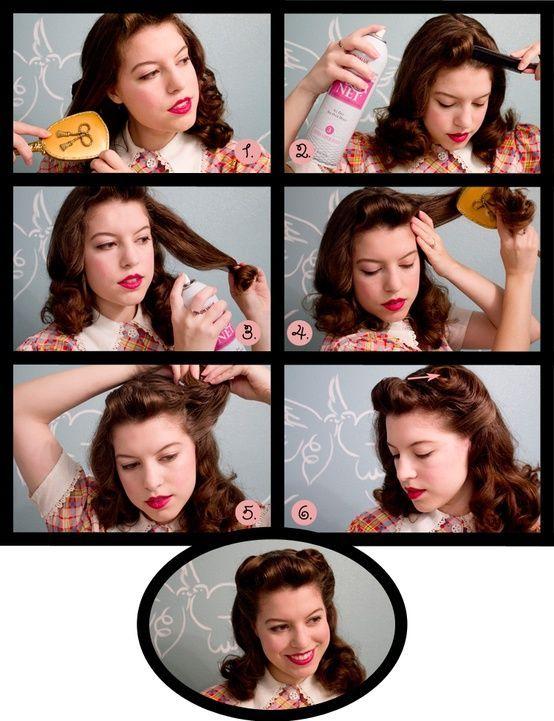 1930s hair tutorial google search hair pinterest