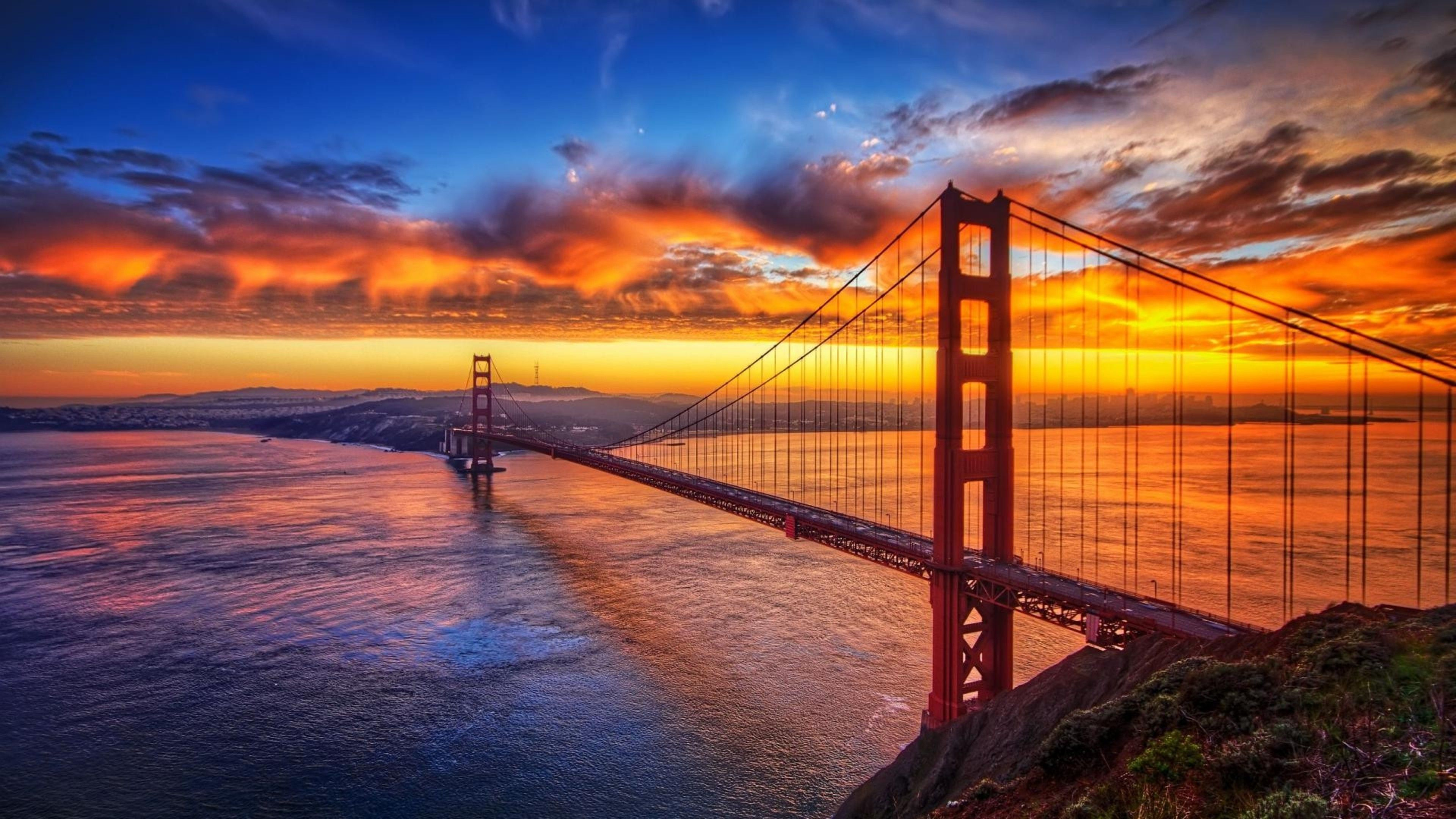 Bridge Sunset Sky 4k Sunset Wallpapers Sky Wallpapers Nature Wallpapers Bridge Wallpapers Bridge Wallpaper Sunset Sky Golden Gate Bridge Hd wallpaper sunset sky red bridge