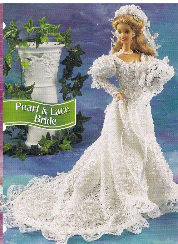 barbie crochet dress pattern /bride dress/pdf | barbie bride