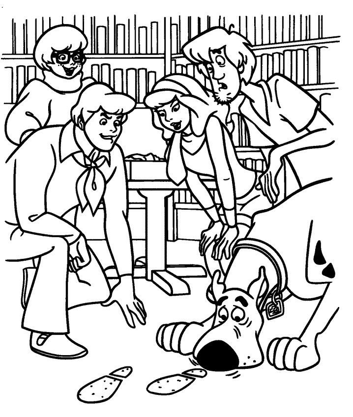 Scooby Doo Halloween Coloring Pages | halloween coloring pages ...