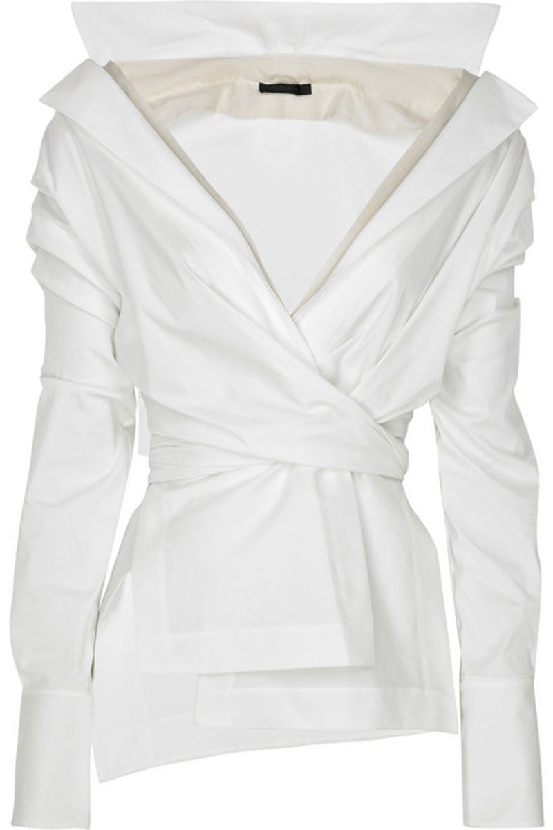 cd6b660cfad9 Modern Wrap Waist OH THIS IS ME I HAVE ALWAYS HAD AN OBSESSION WITH WHITE  BLOUSES---I HAVE HAD AT ONE TIME 55 WHITE BLOUSES